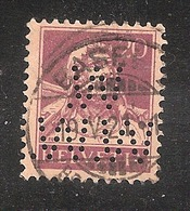 Perfin/perforé/lochung Switzerland No YT 162  1921 William Tell W. Wirz-Wirz AG, Tapeten-Etablissement  Basel / Lausanne - Perforés