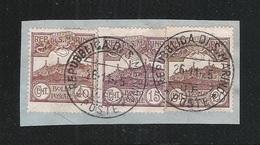 SAN MARINO-1925: 3 Valori Usati Su Frammento (catalogo N.73-109-113) Con Annullo Datato 26/11/1925-in Buone Condizioni. - Saint-Marin