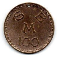 MONACO -- MONTE CARLO -- 100 Francs Jeton Percé Casino  CERCLE Des ETRANGERS -- S.B.M. Monaco - Casino
