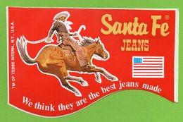 SANTA FE JEANS * VETEMENT - WESTERN - COW BOY *  AUTOCOLLANT 2912 * - Autocollants