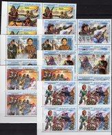 Jubiläum Revolution 1983 Libyan 1191/6 4-Blocks ** 28€ Frauen In Der Abwehr Military Woman Sheet Bf LAR - Libye