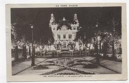 (RECTO / VERSO) MONTE CARLO EN 1932 - LE CASINO - EFFET DE NUIT - TIMBRE ET CACHET DE MONACO - CPA VOYAGEE - Spielbank