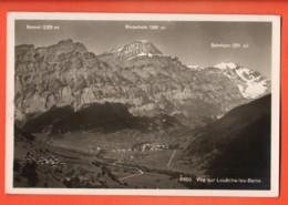 VARR-04 Vue Sur Loèche-les-Bains Et La Gemmi, Panorama Circulé 1935 Phototypie 8400 - VS Valais