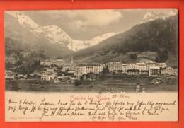 VARR-06 Leukerbad  Loèche-les-BainsPrécurseur  Circulé 1900 Timbre Manque - VS Valais