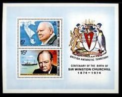 90534) BRITISH ANTARCTIC - ANTARTICO BRITANNICO - BF - 1974 - 100° Nascita Di Churchill MNH** - Nuovi