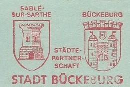 EMA METER FREISTEMPEL GERMANY BÜCKEBURG 1979 CASTLE SABLE SUR SARTHE - Machine Stamps (ATM)