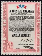 New Caledonia 1965 - 25th Anniv. Of New Caledonia's Adherence To The Free French - Mi 413 ** MNH - Nieuw-Caledonië