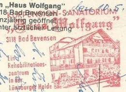 EMA METER FREISTEMPEL GERMANY BAD BEVENSEN 1980 WOLFGANG SANATORIUM - Other