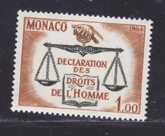 MONACO N°  661 ** MNH Neuf Sans Charnière, TB  (D8279) Droits De L'homme -1964 - Monaco