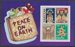 90537) Bahamas  Bahamas IND-Natale, 1980 PEACE On Earth Foglio-BF-MNH** - Bahamas (1973-...)