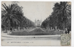 (RECTO / VERSO) MONTE CARLO EN 1916 - N° 40 - LE CASINO - TIMBRE ET CACHET DE MONACO - CPA VOYAGEE - Spielbank