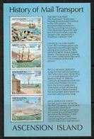 90538) Ascensione 1980 Londra , STORIA DEI TRASPORTI POSTALI-BF-MNH** - Ascensione