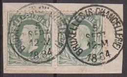 N° 30 Paire  BRUXELLES (R. CHANCELLERIE) 1884 - 1869-1883 Léopold II