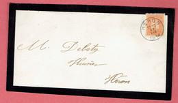 Document Feuille Mortuaire - Oblit Héron Le 31-VIII-1912 Vers Héron Sur 108 - 1912 Pellens