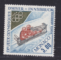 MONACO AERIENS N° 83 ** MNH Neuf Sans Charnière, TB (D8282) Sports, Jeux Olympiques D'hiver D'Innsbruck, Bobsleigh -1964 - Luftfahrt