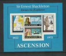 90539) Ascensione 1972 Il 50th Anniversario Della Morte Di Ernest Shackleton M/S-BF-MNH** - Ascensione