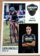 Cyclisme - Carte Féminine Lucia GONZALEZ Espagne Cyclo-Cross 2019 - Cycling