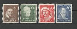 GERMANY DEUTSCHLAND 1951 CHARITY STAMPS Helpers Of Humanity UNUSED - Unused Stamps