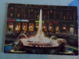 Cartolina ROMA    Fontana Dell'esedra Con Insegne VARIE - Places
