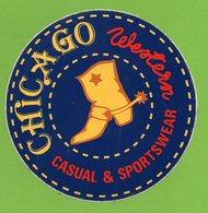 CHICAGO * VETEMENT BOTTE - WESTERN COW BOY *  AUTOCOLLANT 2921 * - Autocollants