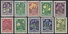 AUSTRIA -  OSTERREICH - 1948 - Serie Completa Nuova Senza Gomma: Yvert 722/731; 10 Valori. - 1945-60 Ungebraucht