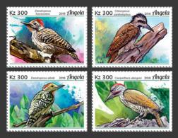 Z08 ANG18118a Angola 2018 Birds Vogel Woodpeckers MNH ** Postfrisch - Vögel