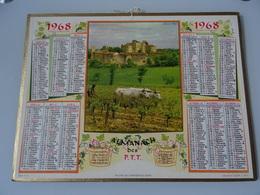 Almanach Ptt De 1968   Village  De  Larressingle  (  Gers  ) - Calendars