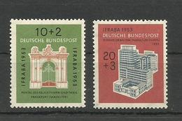 GERMANY DEUTSCHLAND 1953 IFRABA International Stamp Exhibition UNUSED - Unused Stamps