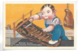 PUBLICITE - BACON OLIDA - Lard Maigre Pour Grillades - Illustrateur VAILLANT - Werbepostkarten