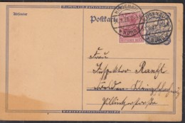 INFLA GA Postreiter, DR P 146 I + ZFr. 148 II, Mit Stempel: Heidenau 31.8.1922 - Deutschland