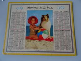 Almanach Ptt De 1969  Vacances - Calendars