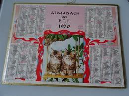 Almanach Ptt De 1970  Les Jumeaux - Calendars