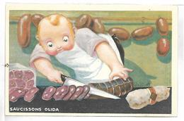 PUBLICITE - Saucissons OLIDA - Illustrateur VAILLANT - Werbepostkarten