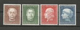 GERMANY DEUTSCHLAND 1954 HELPERS OF HUMANITY UNUSED - Ungebraucht