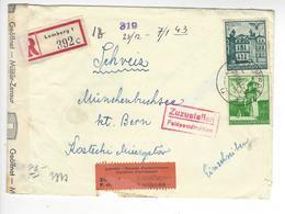 MUNCHENBUCHSEE CENSURE CENSOR GUETTO JUIF LEMBERG LVOV GENERALGOUVERNENT 1942 POLSKA SUISSE INTERNES CAMP INTERNEMENT - Poststempel