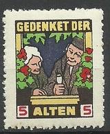 Deutschland Vignette Wohfahrt Charity Gedenket Den Alten MNH - Vignetten (Erinnophilie)