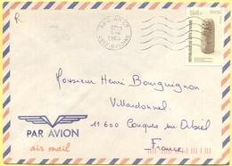 Costa D'Avorio - Côte D'Ivoire - 1989 - 195F Recherche Archéologique - Par Avion - Viaggiata Da Abidjan Per Conques-sur- - Costa D'Avorio (1960-...)