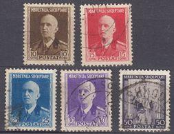 ALBANIA - 1939/1940 -  Lotto Di 5 Valori Usati: Yvert  261/265. - Albania