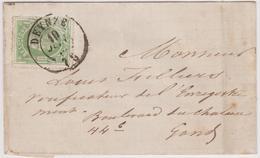 N° 30 DEYNZE  1875 Vers GAND / Filliers Louis - 1869-1883 Léopold II