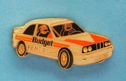 1 PIN'S //   ** BMW RALLYE / SPONSOR BUDGET RENT A CAR ** - BMW