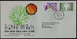 Ca0239 BRUNEI 1979,  SG 277-8 International Year Of The Child,  FDC - Brunei (1984-...)