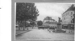 Chalon Sur Saône.Place De Beaune.Soldats En Marche.Cheval Et Chariot - Chalon Sur Saone
