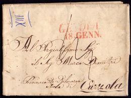 AUSTRIA - ITALIA - GENOVA  To CURZOLA DALMAZIA. - 15. 1. 1841. - Kroatien