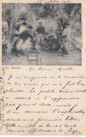 'El Asado' Men Grill Cook Meat, Guitar, C1900s Vintage Boote & Ca. Argentina Postcard - Argentina