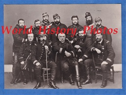 Photo Moderne Reproduction D'un Cliché De 1871 - LAVAL - Lt Colonel LOIZILLON Amiral JAUREGUIBERRY Et Autres - Officier - Guerre, Militaire