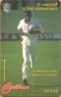 St. Vincent & The Grenadines - STV-142D, GPT, 142CSVD, Cameron Cuffy, Cricket, Sports, 10 EC$, 1997, Used - Saint-Vincent-et-les-Grenadines