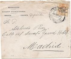 ESPAÑA.CARTA CIRCULADA AÑO 1921 TETUAN-MADRID. - 1889-1931 Reino: Alfonso XIII