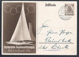 Olympic Games Of Berlin 1936. Sail Marina In Kiel. Segeln Marina In Kiel. Sailboat. Zeilboot - Zomer 1936: Berlijn