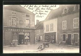 CPA Bligny-sur-Ouche, Rue Du Cafe De La Poste - Non Classés