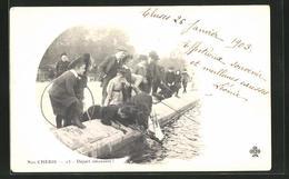 AK Kinder Angeln An Einem Kanal - Ansichtskarten